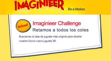 Imaginieer, be a maker. Concurso escolar de diseño de juguetes en 3D