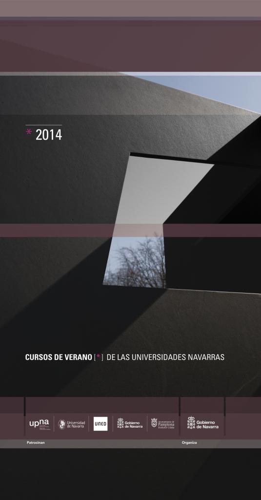 Cartel de los cursos de verano de las universidades navarras 2014