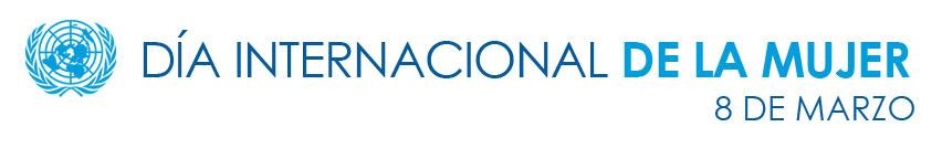 Logo Día Internacional de la Mujer. 8 de marzo