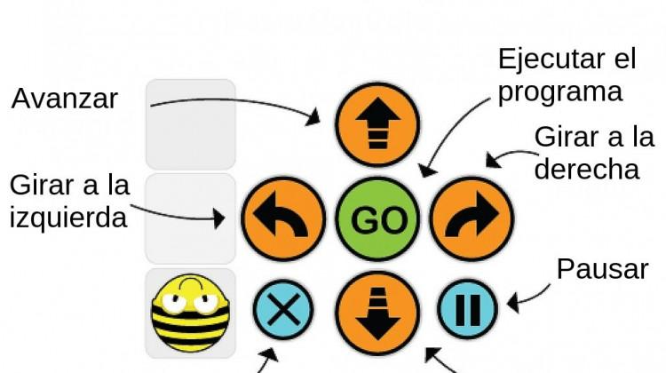 Instrucciones básicas del Bee-bot