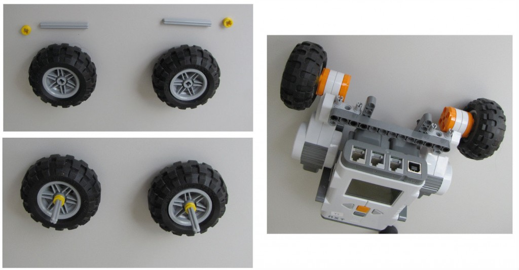 Montaje robot Lego NXT - Paso 6
