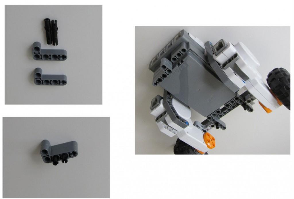 Montaje robot Lego NXT - Paso 7