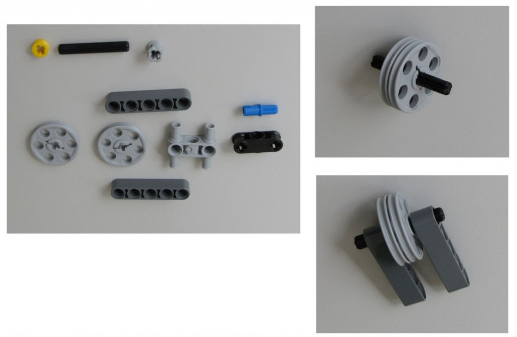 Montaje robot Lego NXT - Paso 8.1