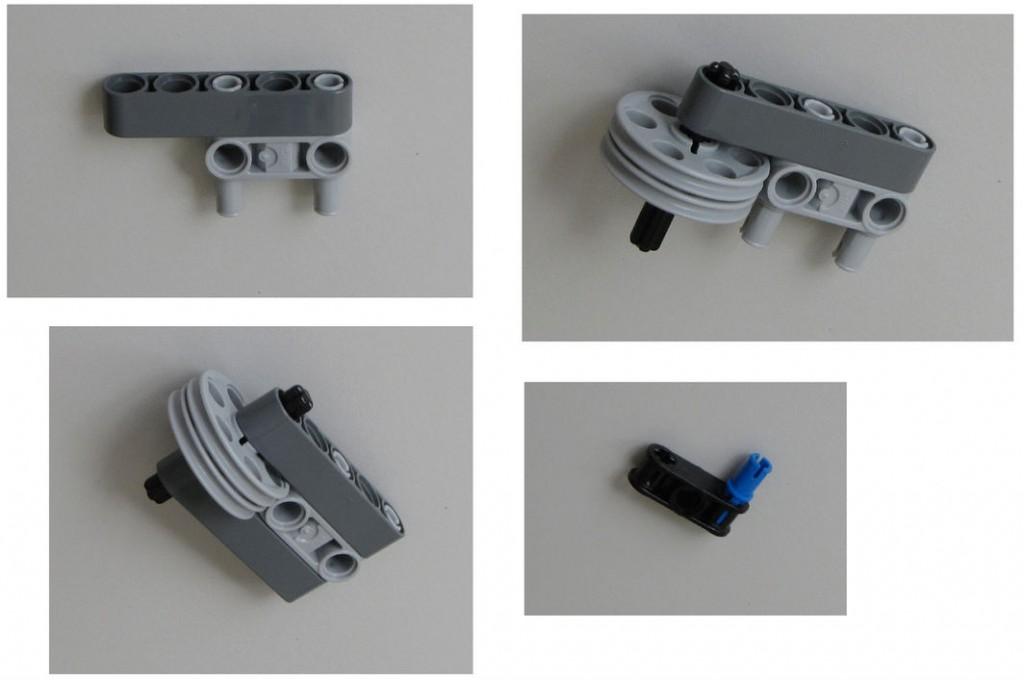 Montaje robot Lego NXT - Paso 8.2