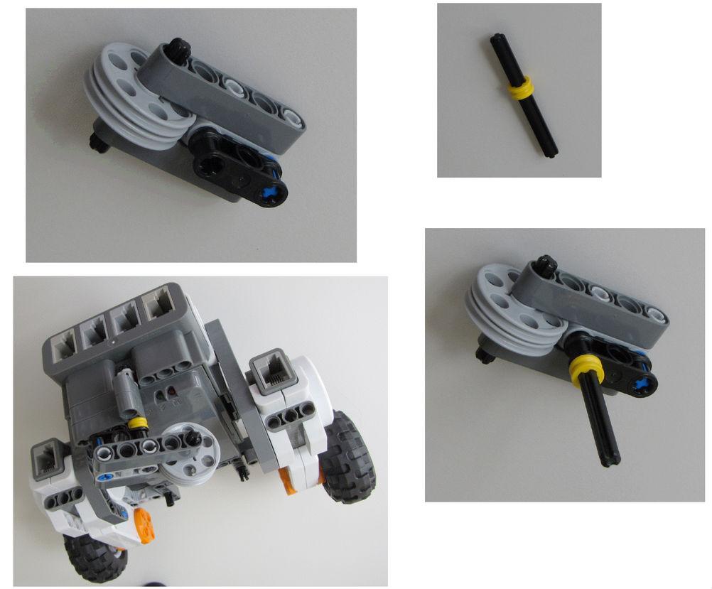 Montaje robot Lego NXT - Paso 8.3