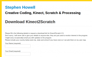 Descarga de Kinect2Scratch
