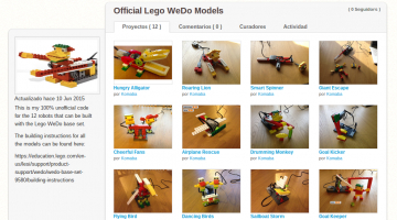 Estudio Scratch proyectos modelos WeDo