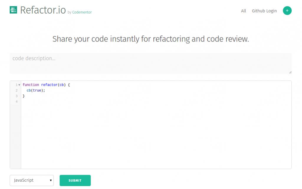 Refactor.io, envío del código