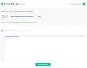 Refactor.io, link para compartir