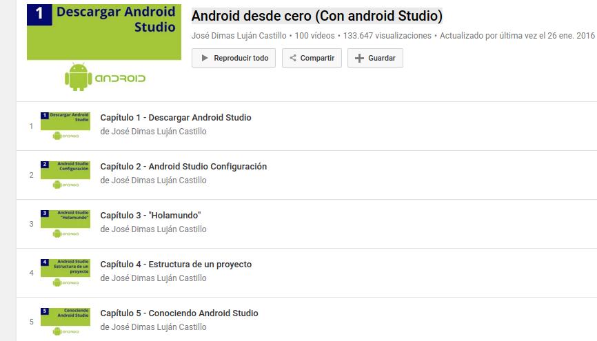 Curso gratuito Android desde cero
