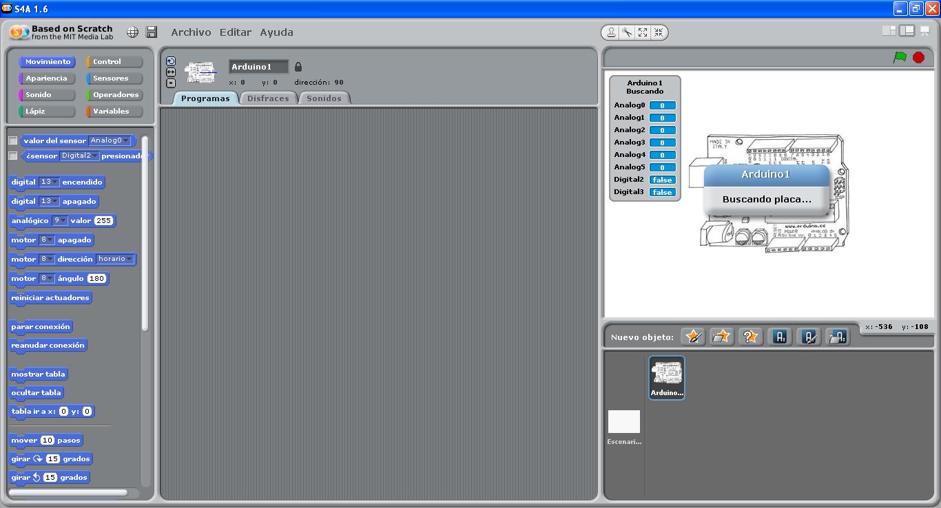 Interfaz de S4A