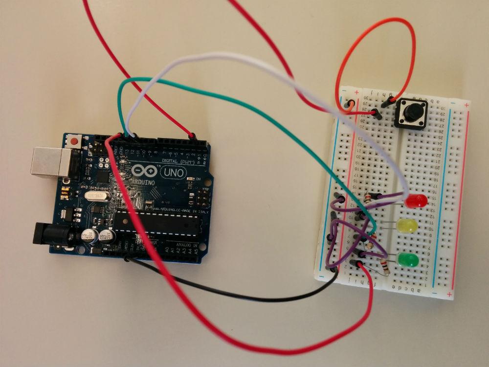 Hardware utilizado en el ejemplo del Semáforo con S4A