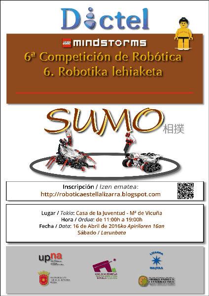 sábado, 19 de marzo de 2016 VI Campeonato de Robótica de Estella-Lizarra