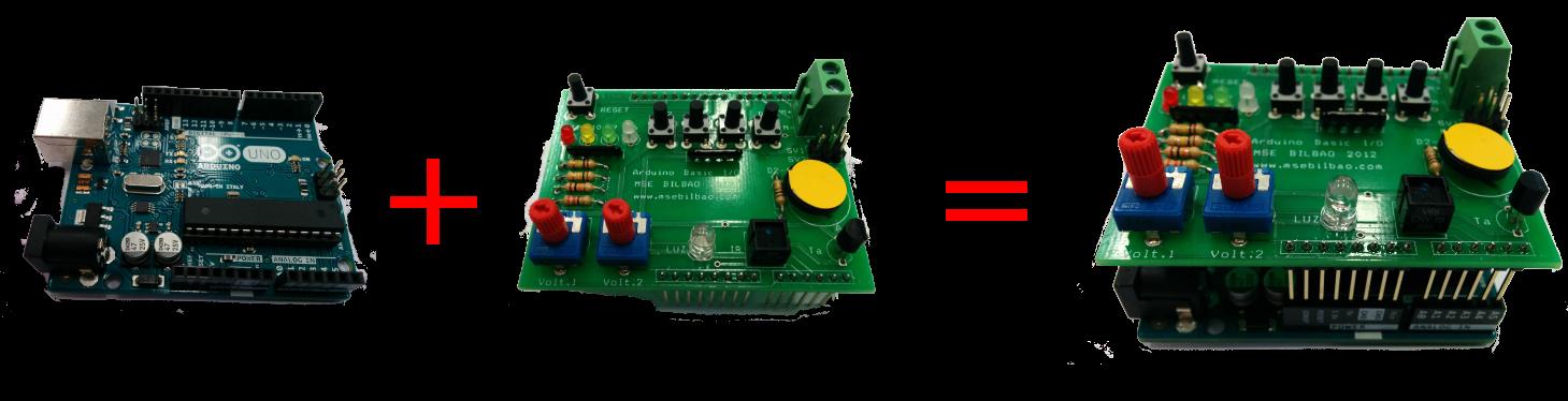 Arduino Uno con placa I/O V2