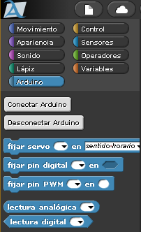 Bloques para Arduino de Snap4Arduino