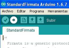 Cargar el firmware compatible con Snap4Arduino
