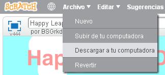 Descargar un proyecto de Scratch 2.0