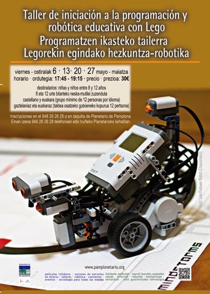 Taller de iniciación a la programación y robótica educativa con Lego