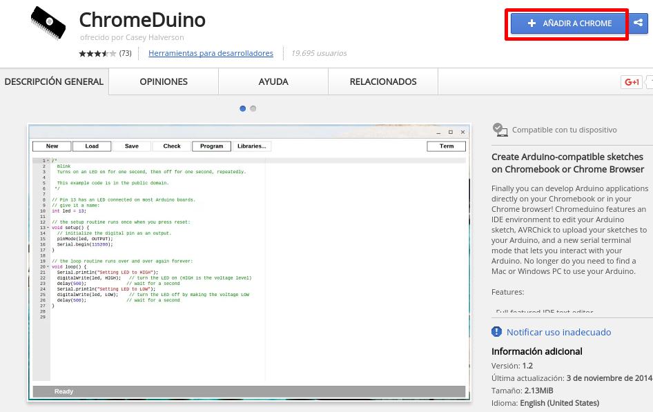 Instalación de ChromeDuino