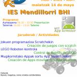 El IES Mendillorri BHI celebrará el Scratch Day 2016 el 14 de mayo