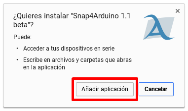 Añadir aplicación