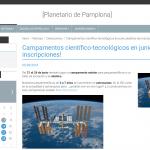 Scratch Day, taller de vídeo con el móvil y campamentos de junio en el Planetario de Pamplona