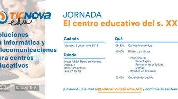 Invitación a la Jornada: El centro educativo del s. XXI