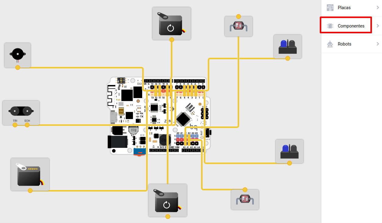 Componentes del BQ PrintBot en Bitbloq