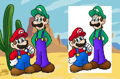 Diferencias entre objetos con y sin fondo transparente