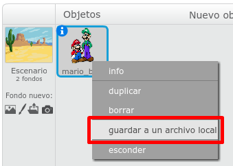 Guardar a un archivo local