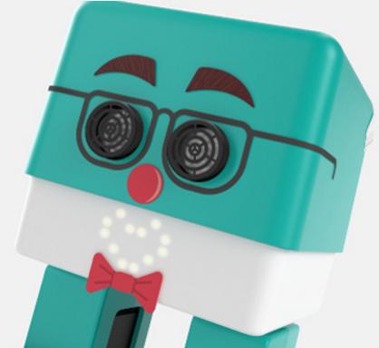 En la caja de Zowi se incluyen pegatinas de quita y pon para ser personalizado. Imagen de la web de BQ