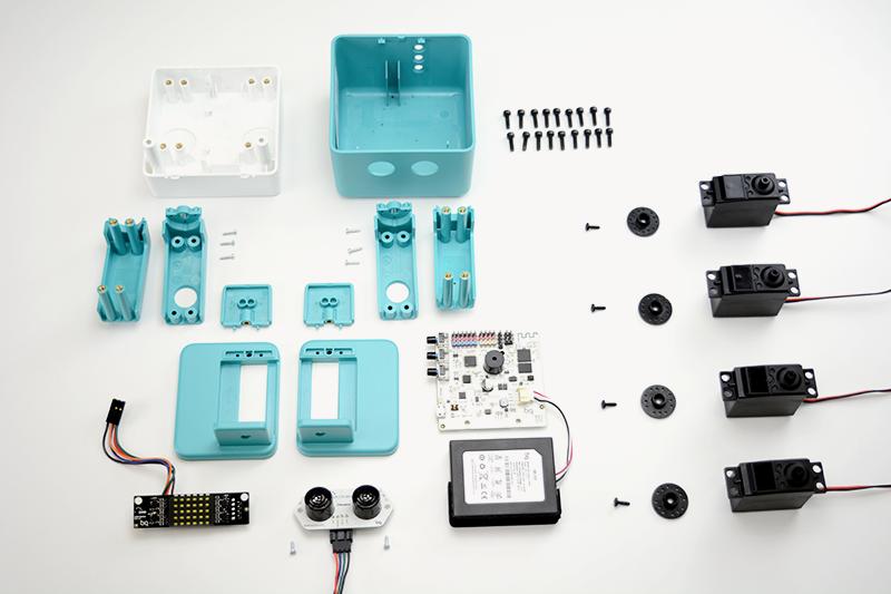 Componentes de Zowi. Imagen de BQ