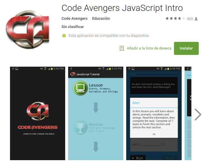 Code Avengers JavaScript Intro