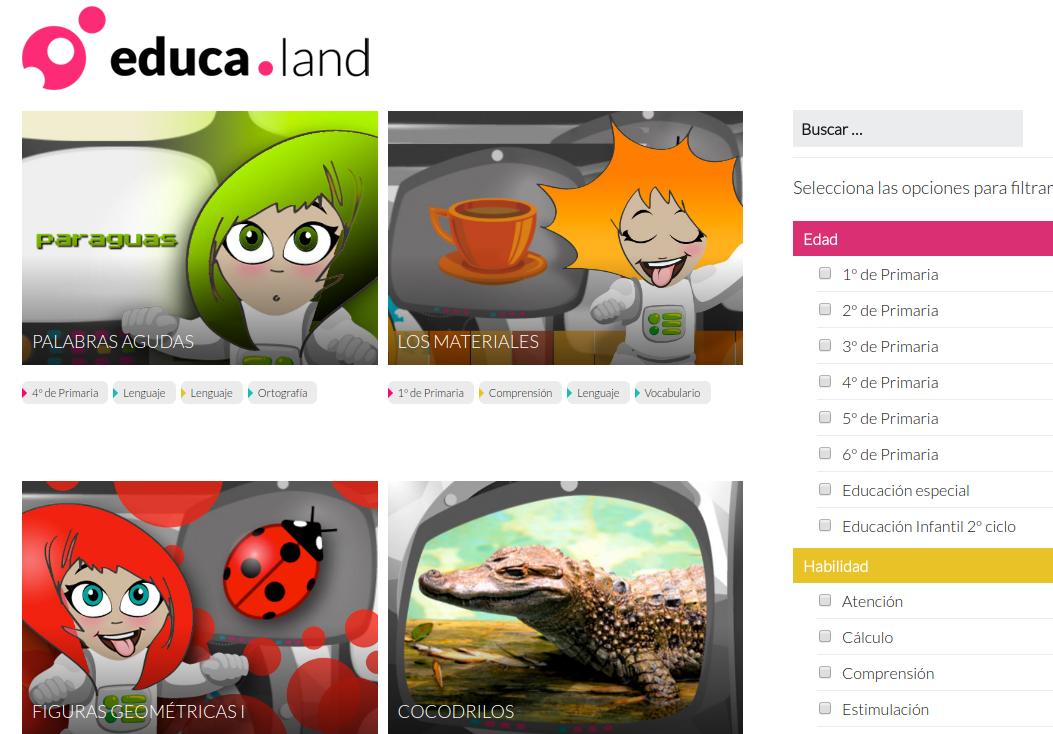 educa.land, portal de juegos educativos creados con WiMi5