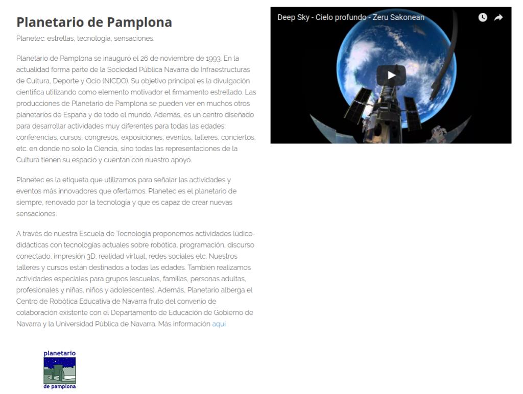 Planetario de Pamplona en BIME Hack Day