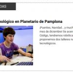 Talleres de programación y robótica en Planetario Pamplona