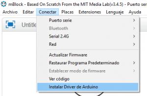 Instalar driver de Arduino