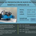 Jornada de presentación de nuevos materiales de robótica educativa e impresión 3D